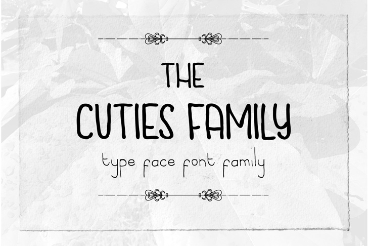 Cuties Caps Font text handwriting