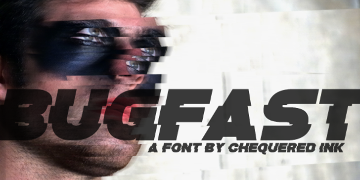 Bugfast Font person poster