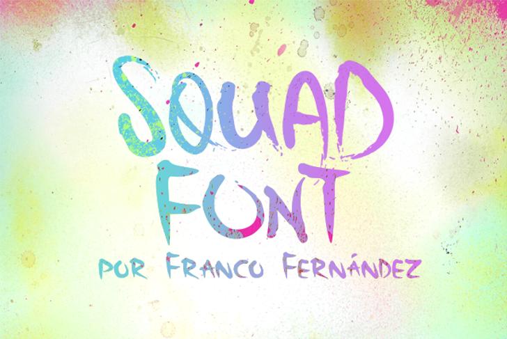 Squad Font handwriting typography