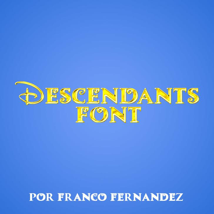 Descendants Font screenshot design