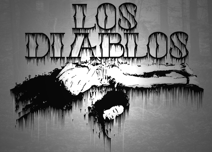 Los Diablos Font poster