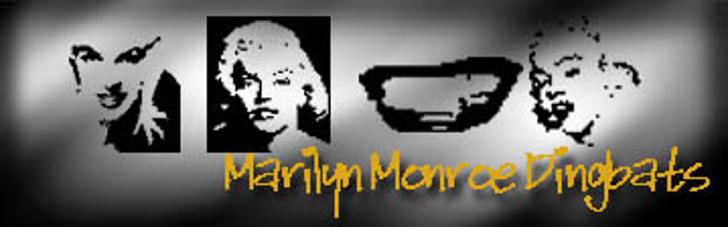 Monroe Dingbats Font screenshot poster