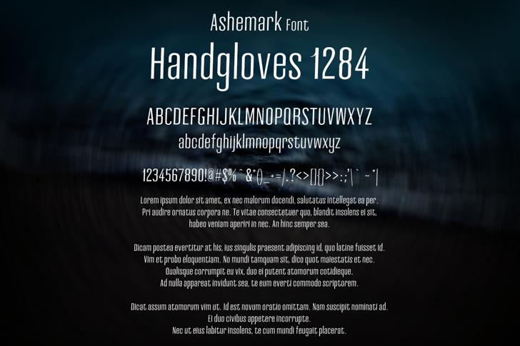 Ashemark Font text screenshot