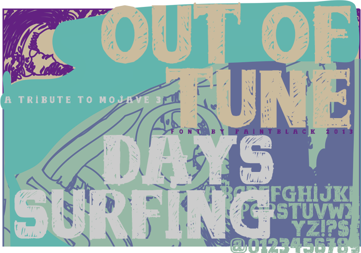 out of tune Font poster design