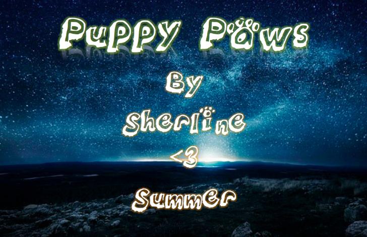 Puppy_paws Font text screenshot
