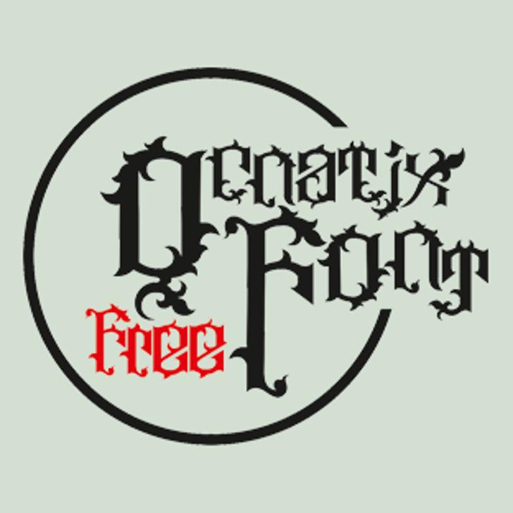 Ornatix Font cartoon design