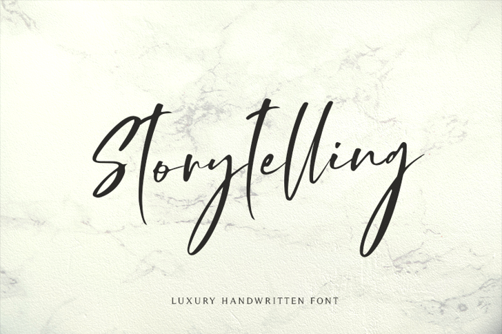 Storytelling Font poster