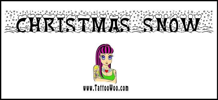 Christmas Snow Font cartoon drawing