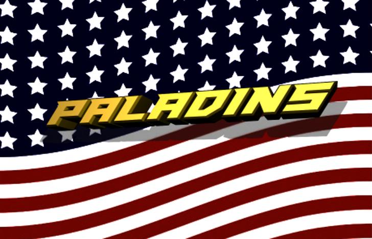 Paladins Font flag flag of the united states
