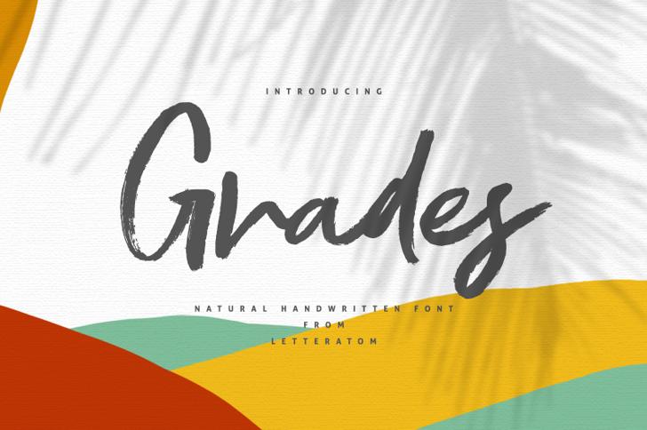 Grades Font poster