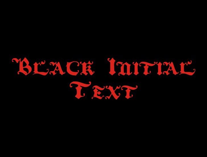 BlackInitialText Font design graphic