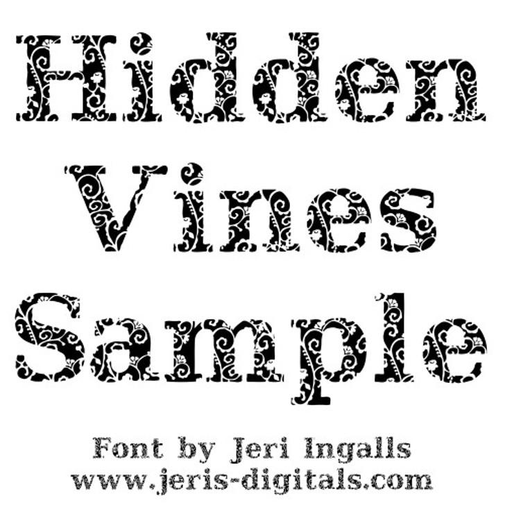 JI Hidden Vines Font cartoon drawing