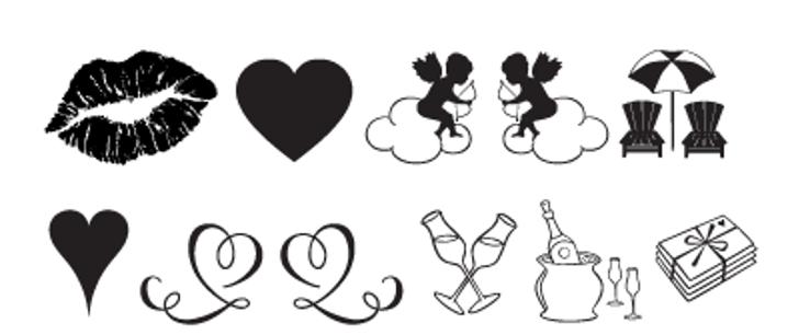 Love Romance Font cartoon design