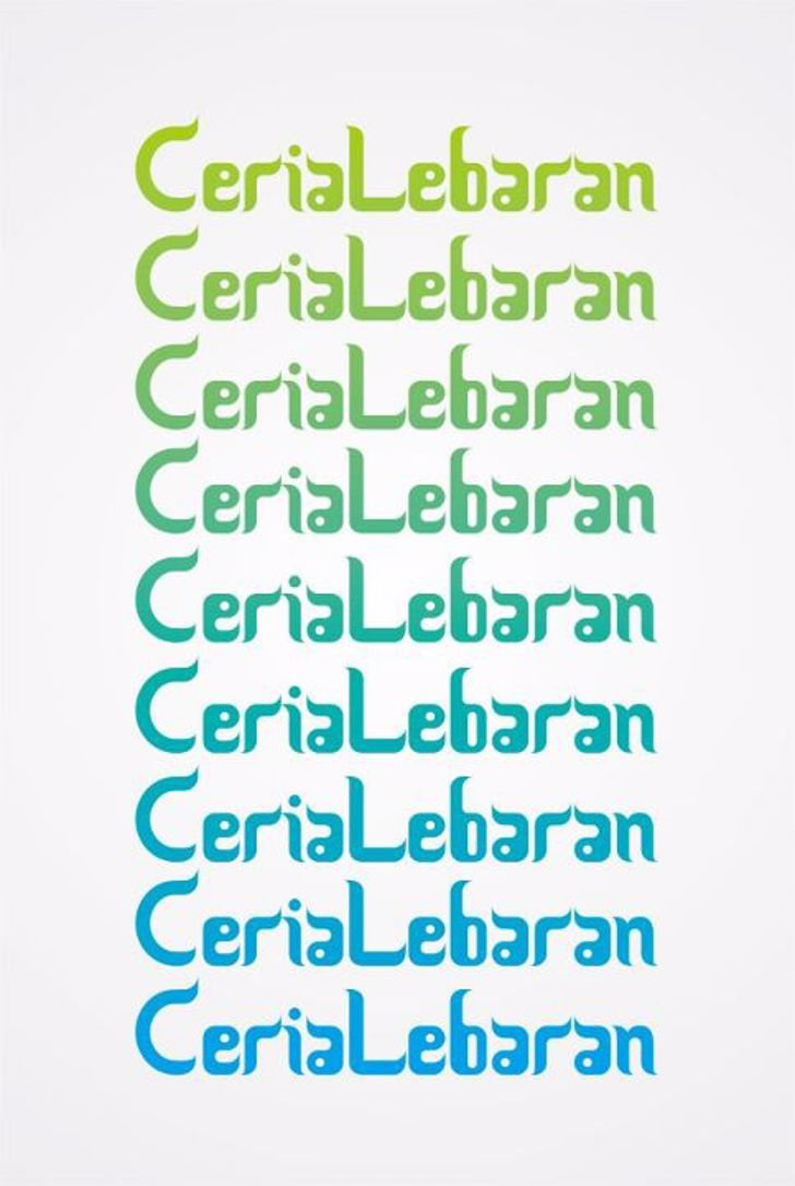 Ceria Lebaran Font typography font