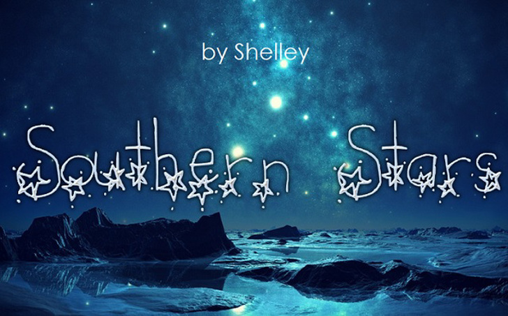 Southern Stars Font nature poster