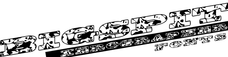 BigSpit Font cartoon drawing