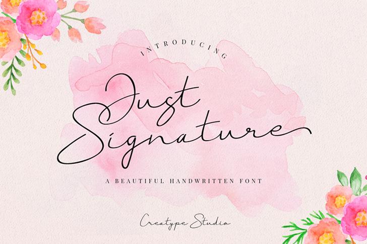 Just Signature Font handwriting child art