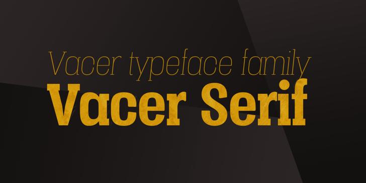 Vacer Serif Personal Font screenshot design