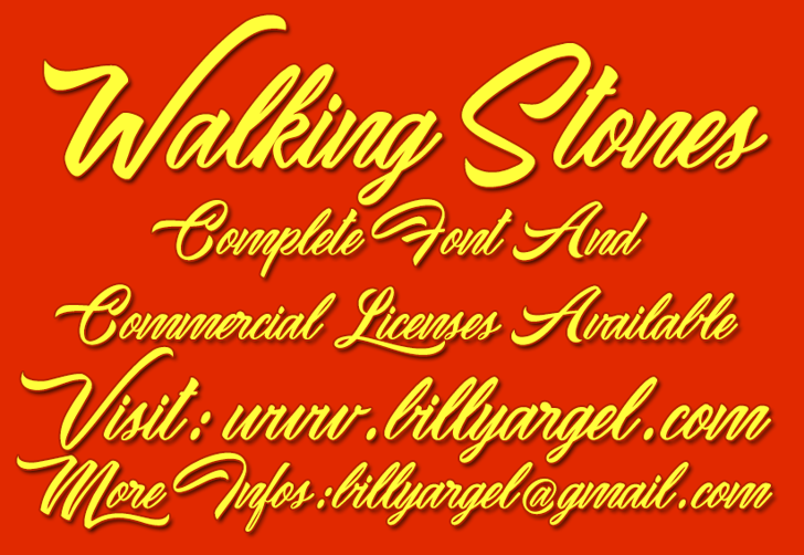 Waking Stones Personal Use Font text design