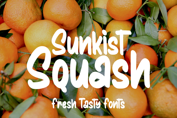 Sunkist Squash Font poster