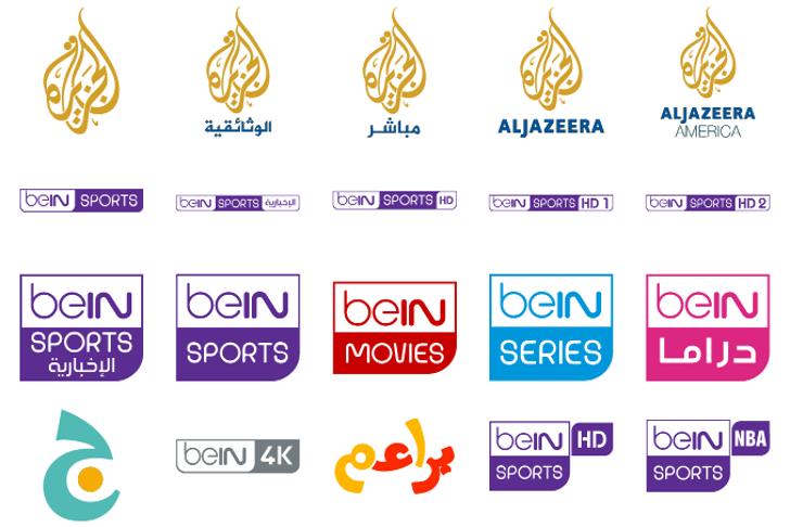 logos bein aljazeera Font abstract design