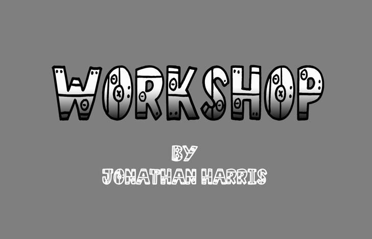 Workshop Font screenshot design