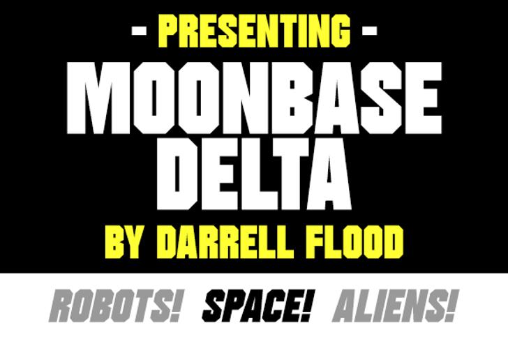 Moonbase Delta Font poster graphic