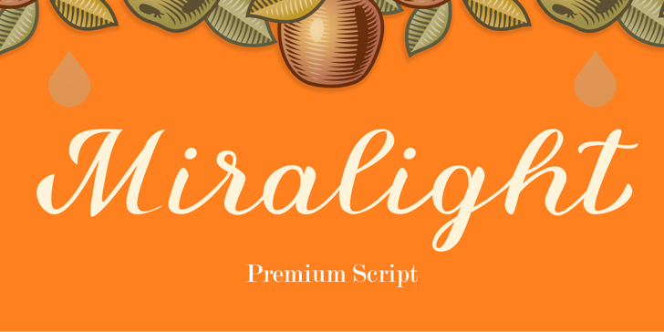 Miralight Demo Font design vector graphics