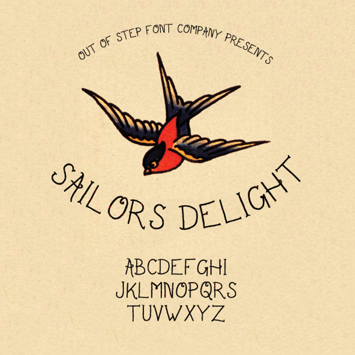Sailor's Delight Font bird text