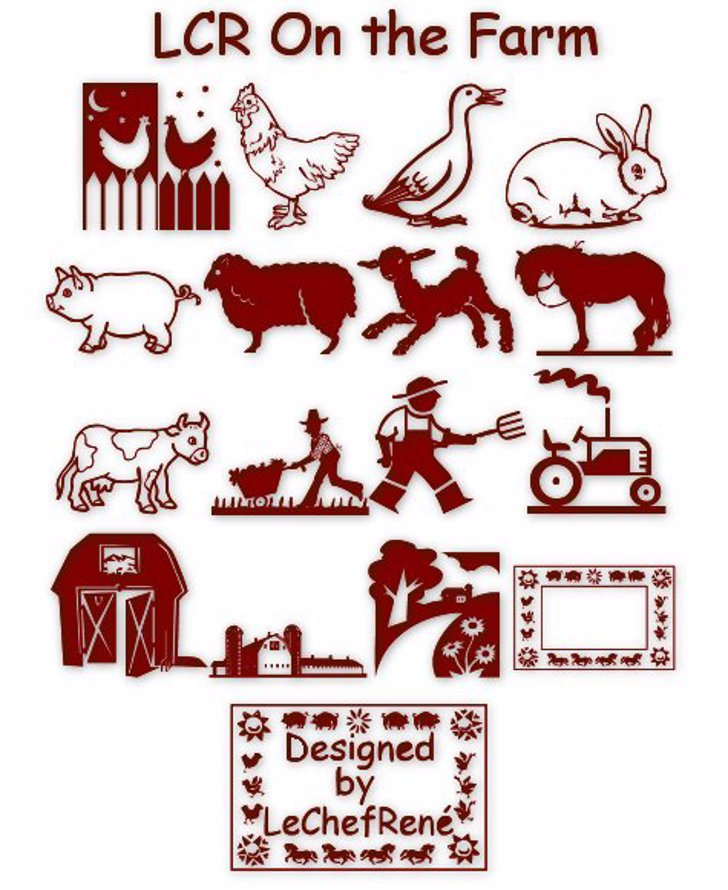 LCR On the Farm Font cartoon animal
