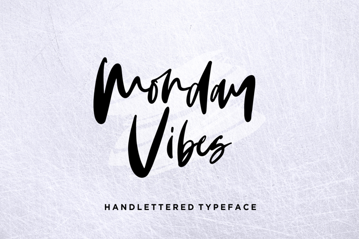 Monday Vibes Font handwriting design