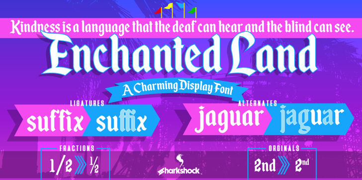 Enchanted Land Font screenshot poster