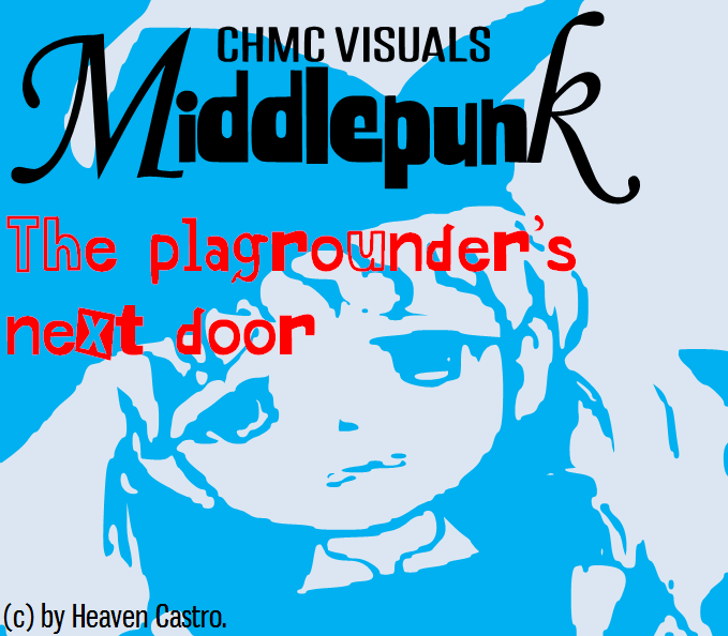 Middlepunk CHMC Font cartoon illustration
