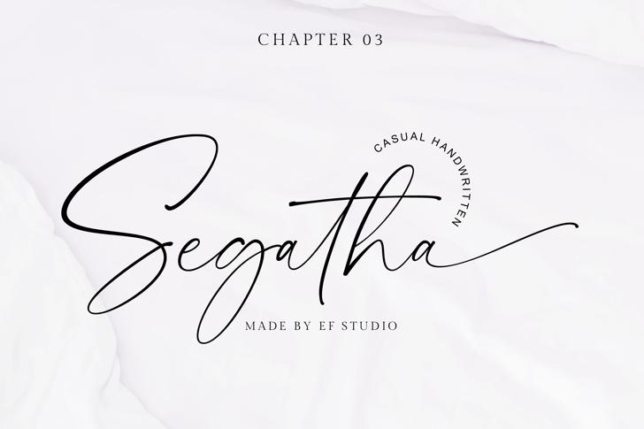 Segatha Font poster