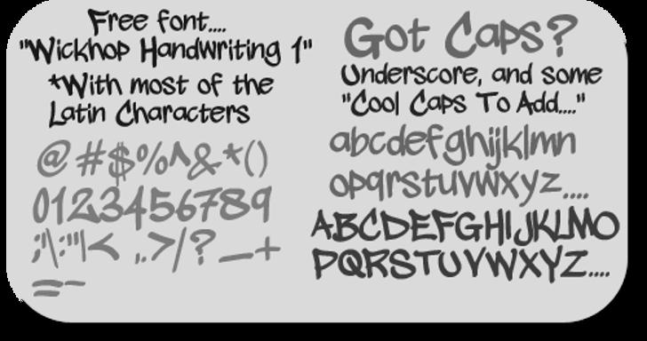 wickhop handwriting Font handwriting text