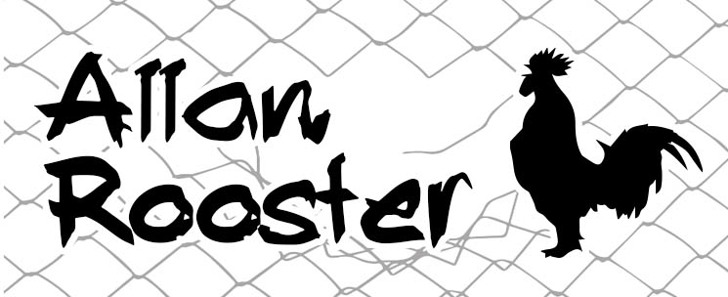 Allan Rooster Font drawing sketch