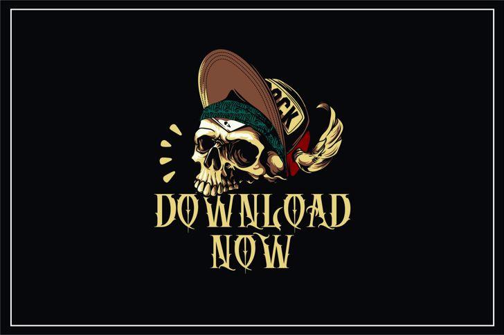 DEATH CROW Font poster design