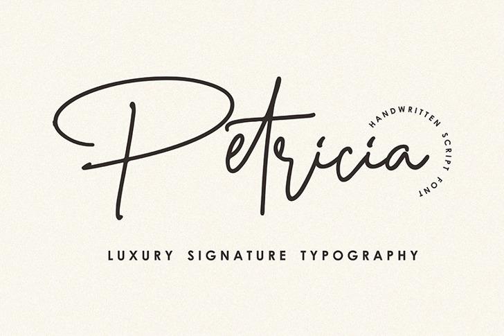 Petricia Font poster