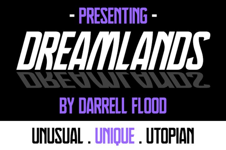 Dreamlands Font screenshot poster