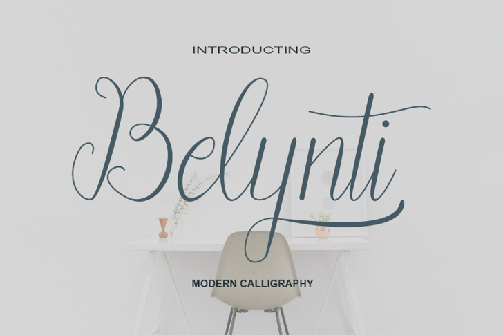 Belynti Demo Script Font poster