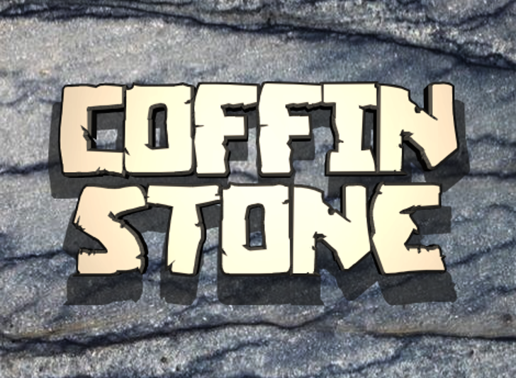 Coffin Stone Font poster