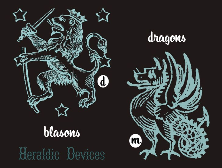HeraldicDevices Font cartoon design