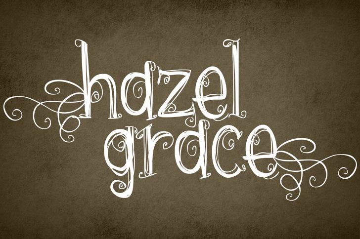 {hazel grace} Font drawing typography