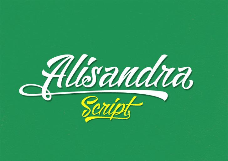 Alisandra Demo Font typography design