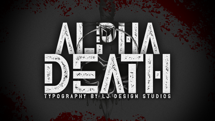 Alpha Death Personal Use Font poster screenshot