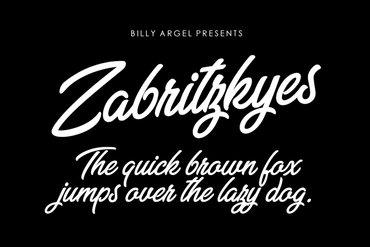Zabritzkyes Personal Use Font design text