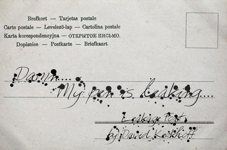 Leakage Font handwriting letter