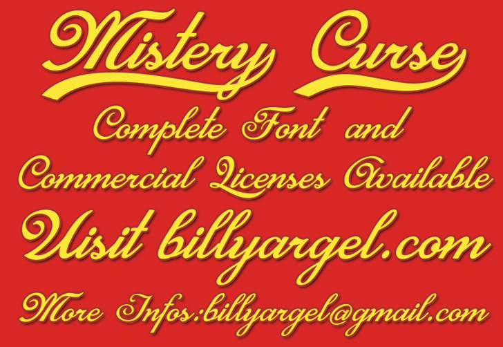 Mistery Curse Personal Use Font text typography