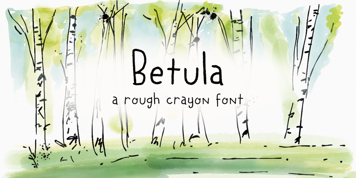 DK Betula Font handwriting drawing