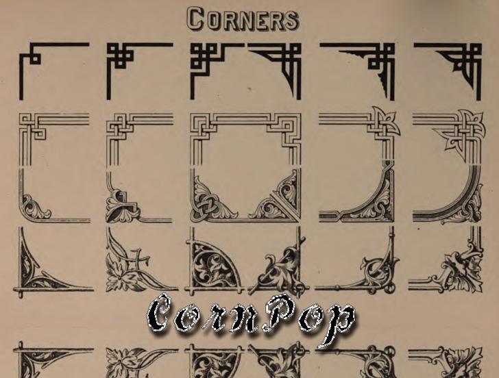 CornPop Font text drawing